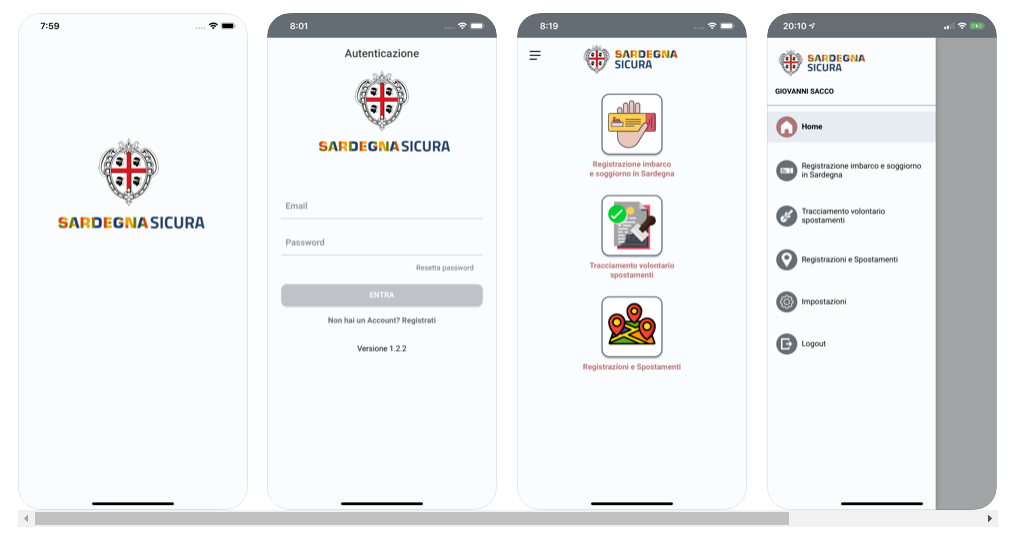 Before to travel, download Safe Sardinia app to record your arrival in Sardinia! 2
